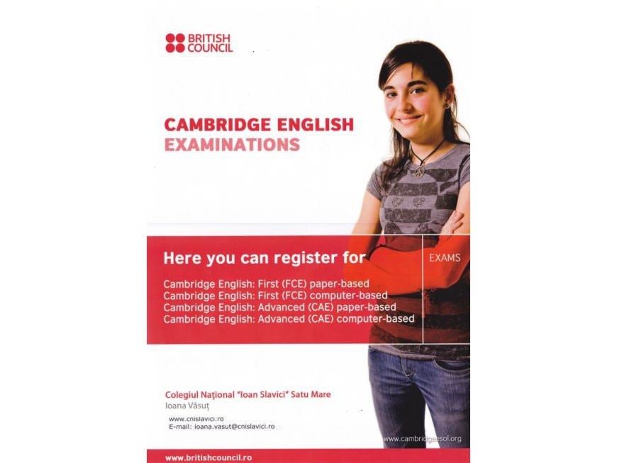 Înscrieri examene Cambridge
